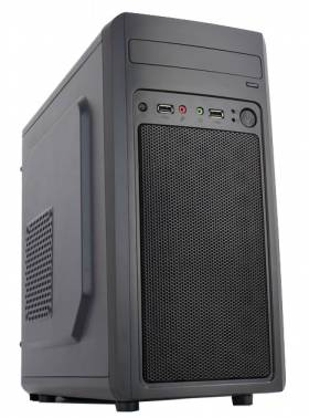 Корпус Accord M-02B черный без БП mATX 1x80mm 2x120mm 2xUSB2.0 audio